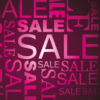 saleposter roze letters