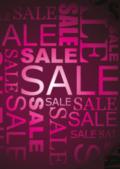 saleposter roze letters