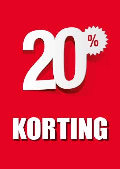 Raamposter 20% korting