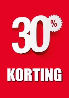 Raamposter 30% korting