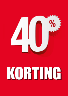 Raamposter 40% korting