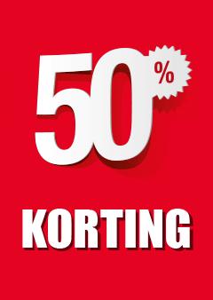 Raamposter 50% korting