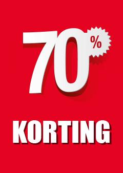 Raamposter 70% korting