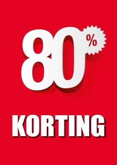 Raamposter 80% korting
