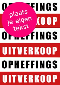 Poster ontwerpen met eigen tekst