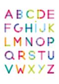 Alfabet poster met de letters van A t/m Z