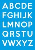 Poster met alle letter uit het alfabet van A t/m Z