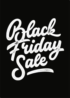 Sale poster met de tekst Black Friday