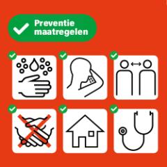 corona preventie sticker