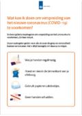 voorzorgsmaatregelen poster corona virus preventie poster