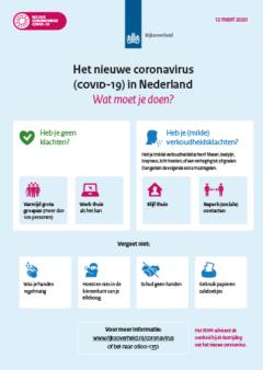 poster corona virus maatregelen en preventie