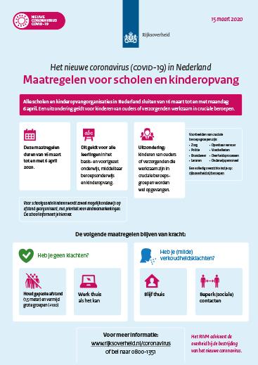 coronavirus poster met maatregelen scholen kinderopvang