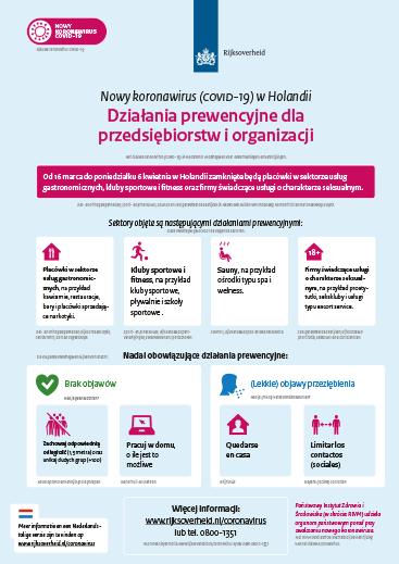 cororna virus poster maatregelen voor poolse ondernemers