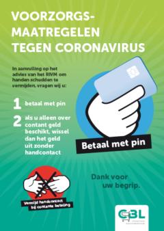 corona virus voorzorgsmaatregelen winkeliers betalen met pin