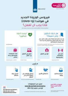 poster voorzorgsmaatregelen arabische taal raamposter
