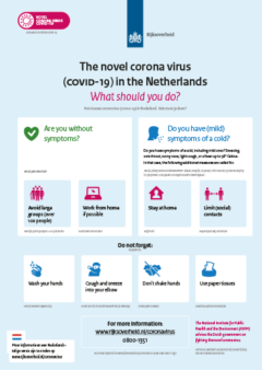 poster coronavirus covid-19 maatregelen uit voorzorg in english