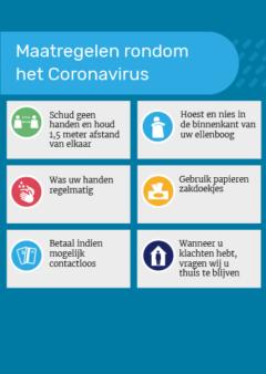 Maatregelen Coronavirus poster
