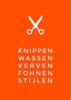 Poster voor een kapsalon