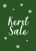 Groene Kerst Sale affiche