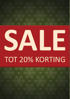 Poster Kerst Sale 20% korting