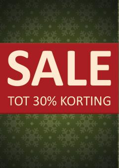 kerst sale poster 30% korting
