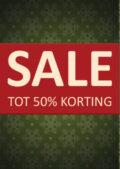 Raambiljet Kerst Sale Kortingposter