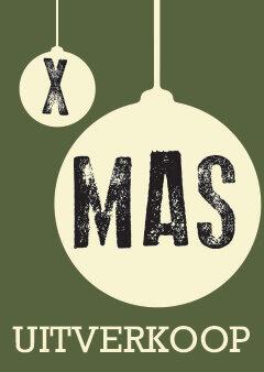 Poster Kerst Uitverkoop Winkeliers