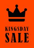 Koningsdag sale poster met kroon