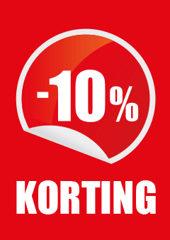 poster percentage 10% korting