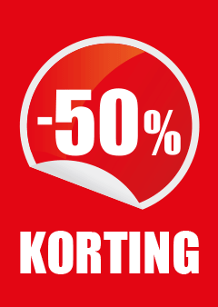 raamposter percentage 50% korting