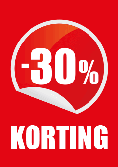 raambiljet percentage 30% korting