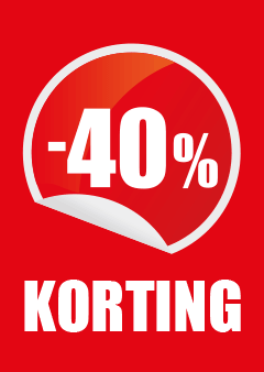 raamposter korting 40 procent percentage