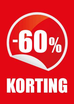 raamposter 60% korting