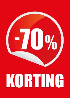 raamposter 70% kortingposter