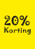 kortingposter 20 procent korting sale