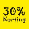 kortingposter 30% sale