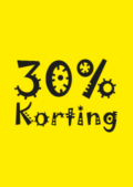 kortingposter 30% sale