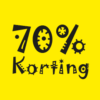 kortingposter 70% sale