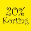 20 procent korting raamposter