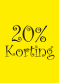 20 procent korting raamposter
