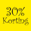 korting poster winkeliers
