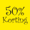 saleposter 50 procent korting