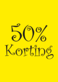 saleposter 50 procent korting