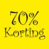 70% korting raamposter sale