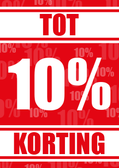 Poster tot 10 procent korting