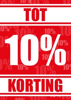 Poster tot 10 procent korting