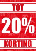 kortingposter tot 20%