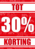 Korting poster discount tot 30 procent
