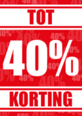 40 procent korting raamposter