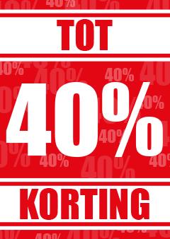 40 procent korting raamposter